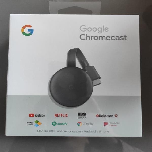 Chromecast nuevo, precintado.