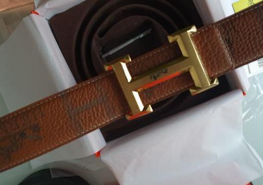 Cinturón hermes dorado piel