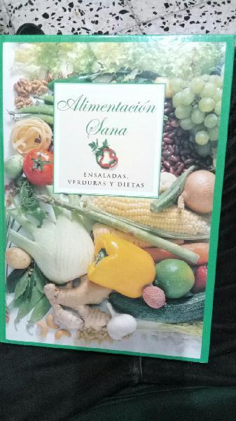 Libro alimentación sana, ensaladas,verduras y diet