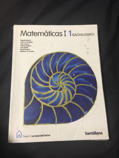 Libro matemáticas 1bachillerato santillana