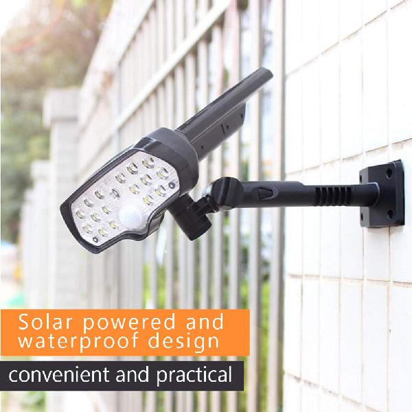 Lámpara solar led impermeable sensor movimiento