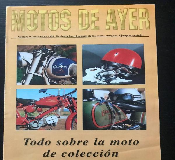 Motos de ayer nº 0 - revista catalogo presentacion motos de
