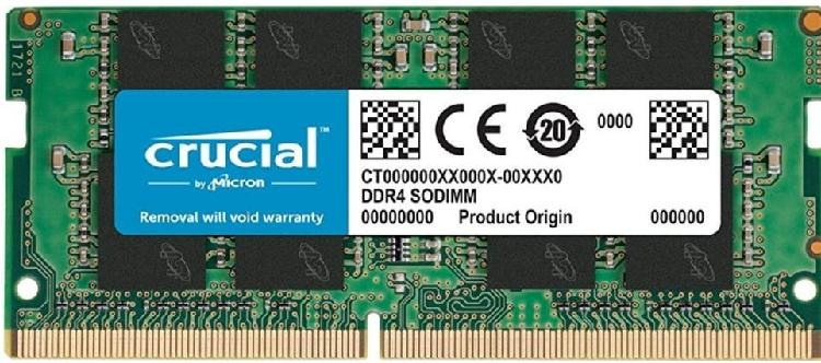 Memoria ram crucial 4gb ddr4 sodimm 2400mt/s
