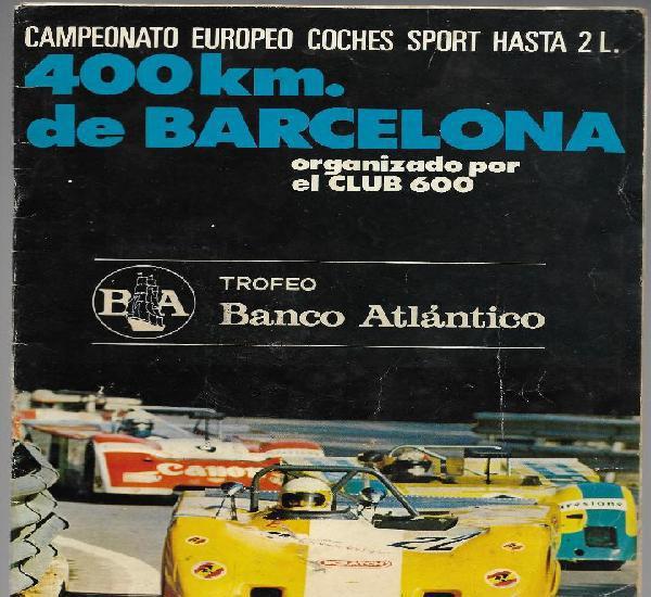 Programa campeonato europeo coches sport hasta 2 l. 400 km.