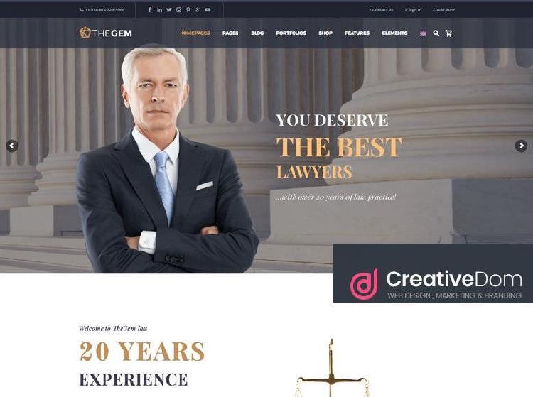 Pagina web para despachos de abogados