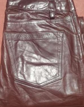 Pantalón de cuero gap marrón