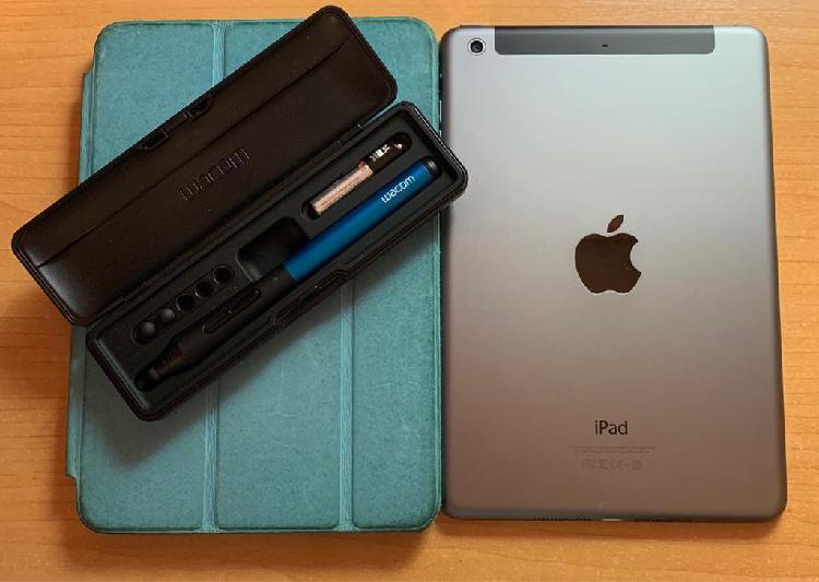 Ipad mini 2 64 gb wifi 4g + intuos creative stylus