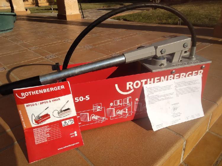 Máquina para comprobar fugas rothenberger rp 50_s