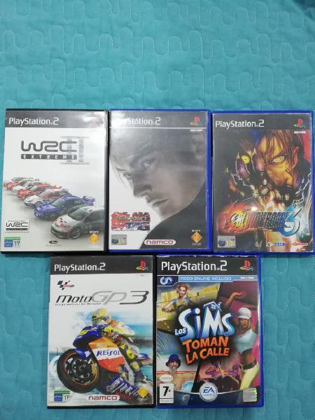 Se vende varios juegos de ps2 sueltos o lote