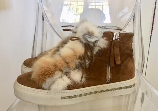 Zapatillas sneakers en ante marron