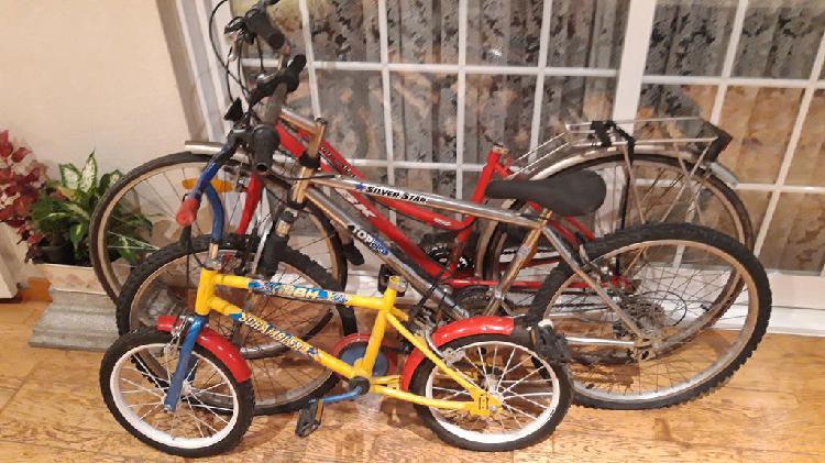 3 bicicletas usadas