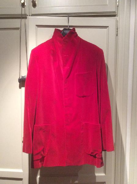Chaqueta/ casaca adolfo domínguez terciopelo rojo.