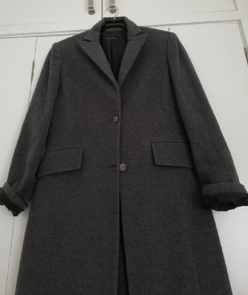 Don algodón abrigo paño color gris talla 40