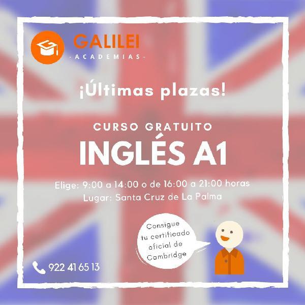 INGLES A1 (PRINCIPIANTES) ULTIMAS PLAZAS
