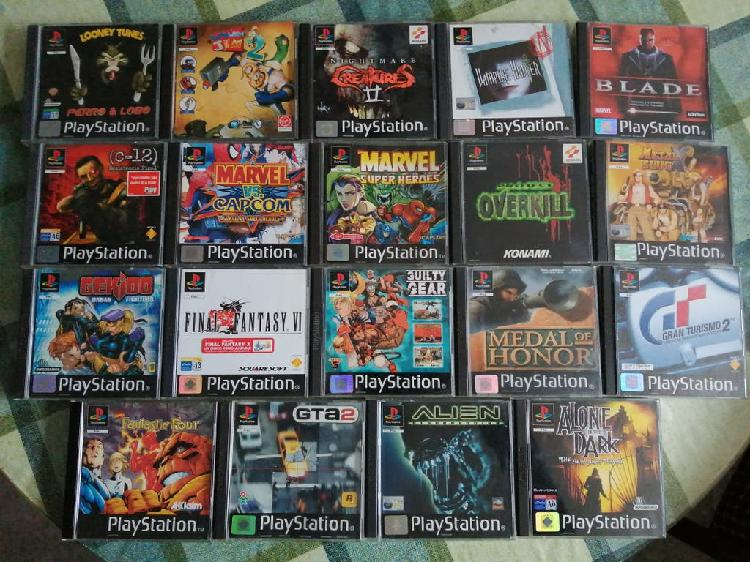 Lote pack ps1 pal españa completo psx
