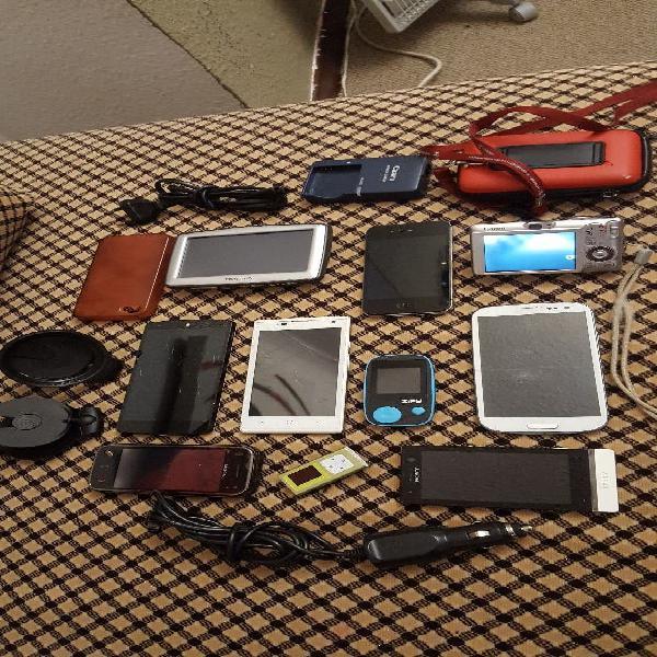 Lote de 6 teléfonos móviles + cámara + mp3 + gps