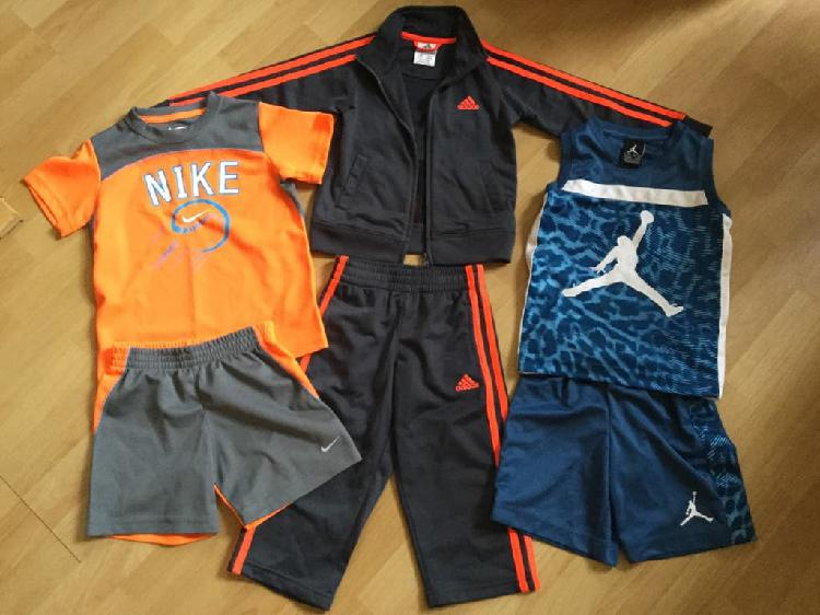 Nike, adidas and basketball outfits