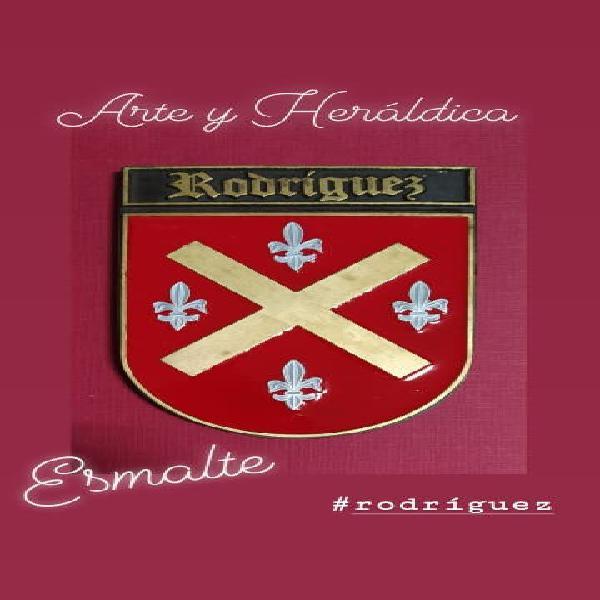 Rodríguez escudo en esmalte