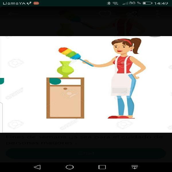 Horas de limpieza o el cuido de personas mayores