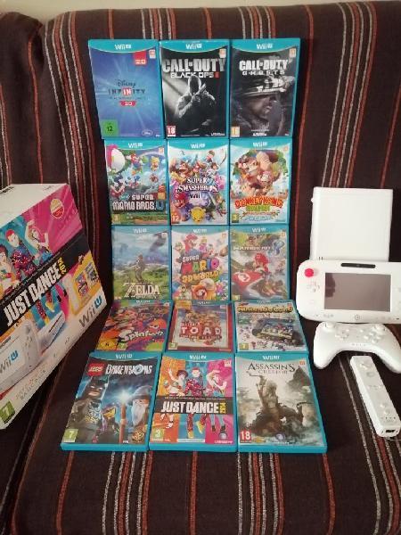 Nintendo wii u blanca mega pack