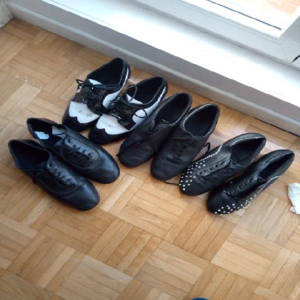 zapatos de bailarín suela de cuero