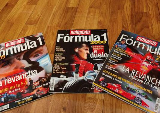 Autopista formula 1 - tres revistas - 99-2001