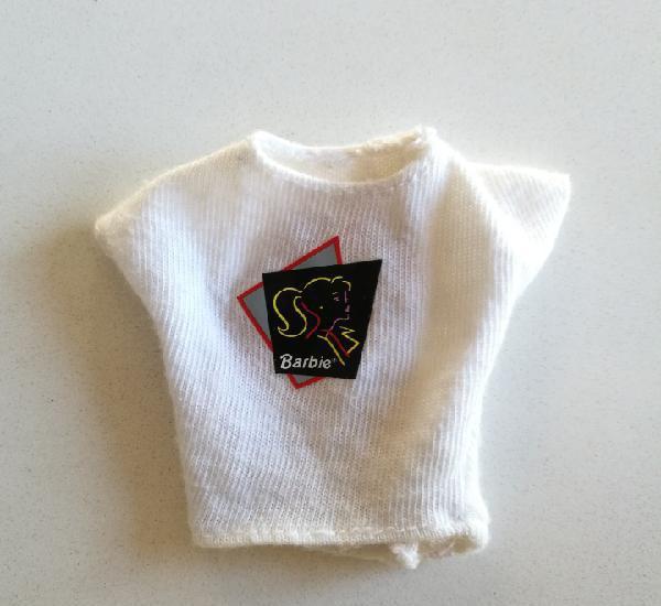 Barbie cool shoppin ropa jeans, camiseta blanca años 80 90