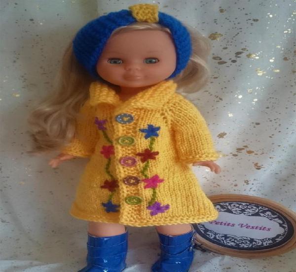 Conjunto para muñeca nancy confeccionado por petits