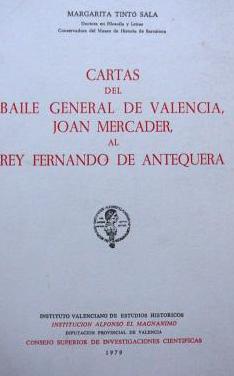 Cartas del baile general de valencia
