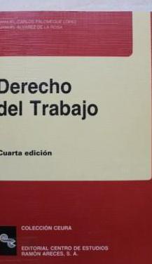 Derecho del trabajo (4ª ed.) manuel carlos palome