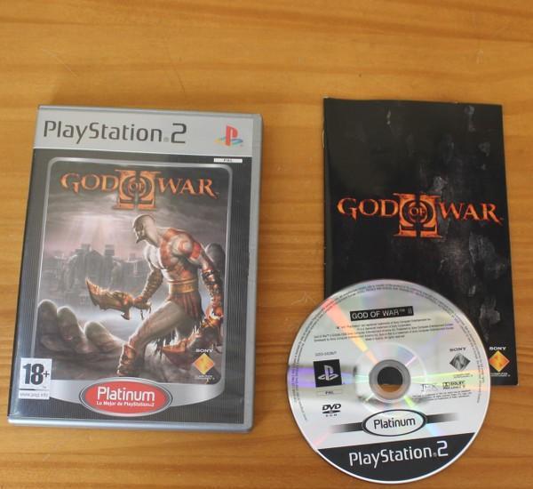 God of war ii, videojuego playstation 2 sony play ps2 pal
