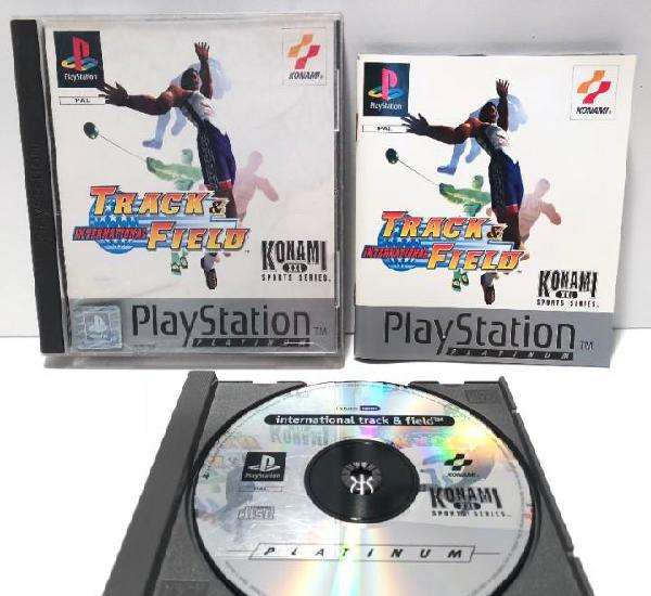 International track & field playstation psx ps1 psone