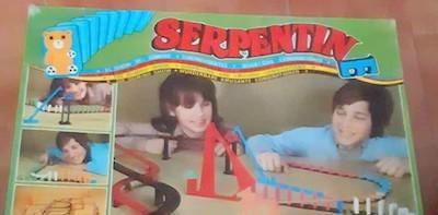 Juego de fichas de dominó serpentin e de airgam, con 3
