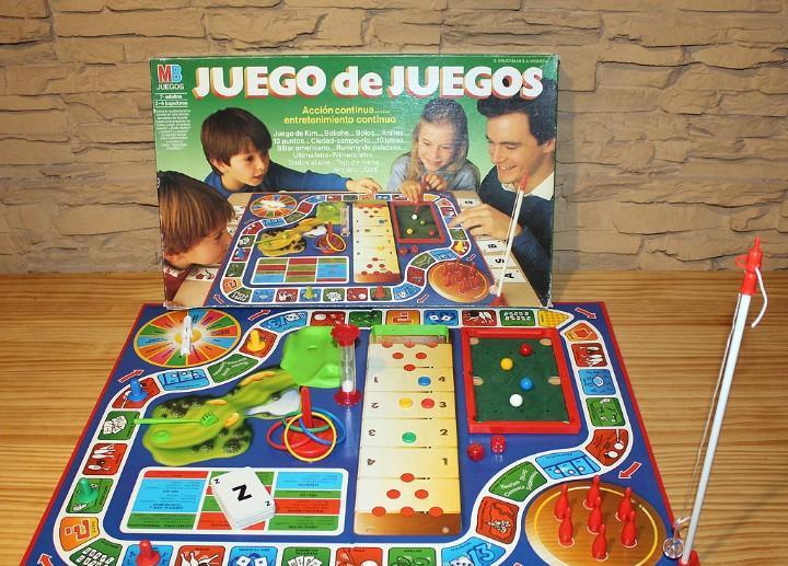 Juego de juegos, de mb - en su caja original - años 80 -
