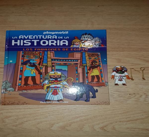 Lote playmobil libro +figura los faraones de egipto tomo 5