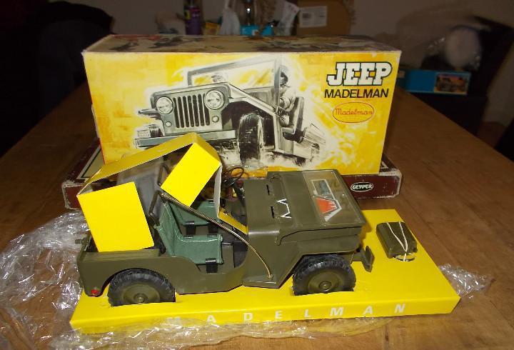Madelman original años 70: jeep comando en caja, nuevo sin