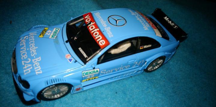 Mercedes clk dtm azul nº42 de scalextric