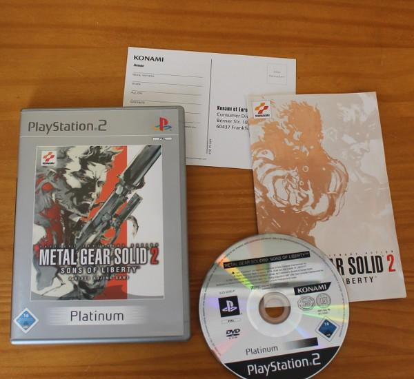 Metal gear solid 2 sons of liberty, videojuego playstation 2