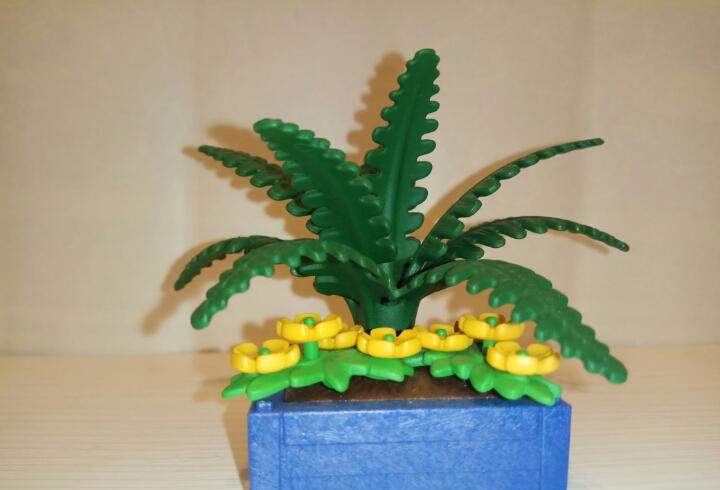 Maceta, planta con flores decorativa playmobil. para casa,