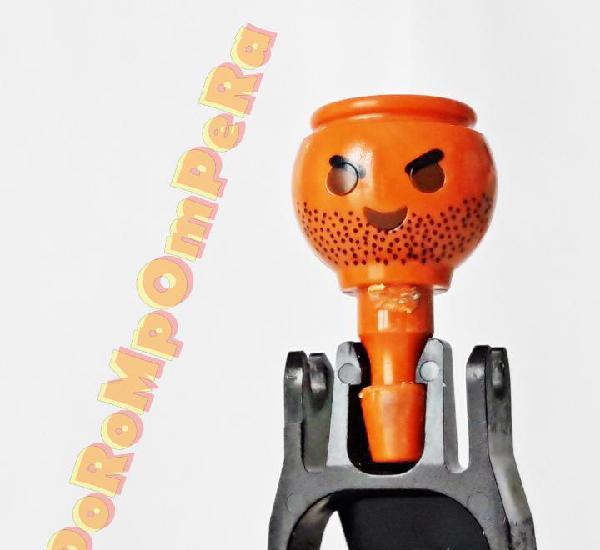 Playmobil cabeza naranja barba y cejas arqueadas - set/s por