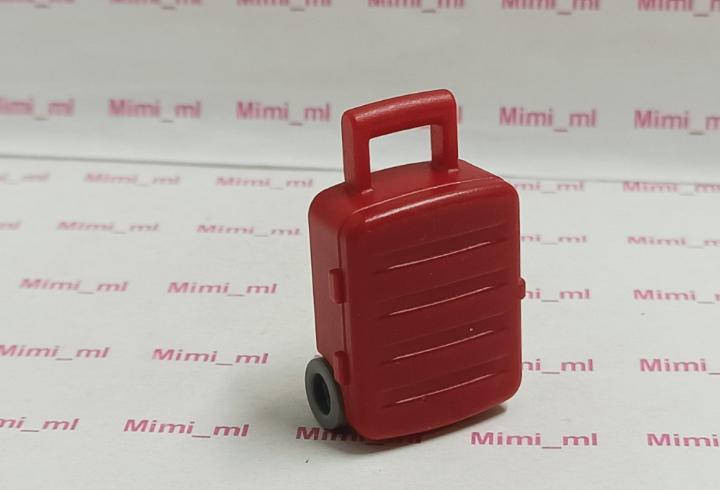Playmobil trolley roja maleta viaje equipaje aeropuerto