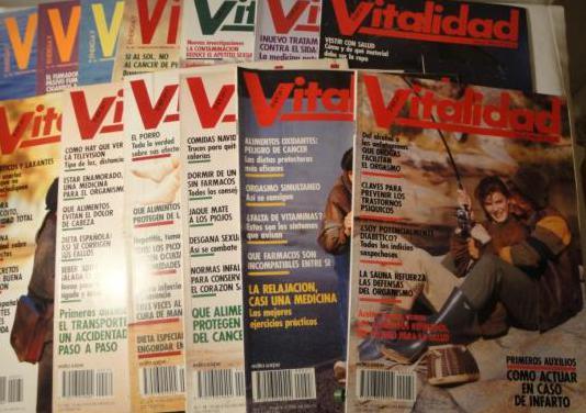 Revistas vitalidad.nº 26 al 38. 1988 completo