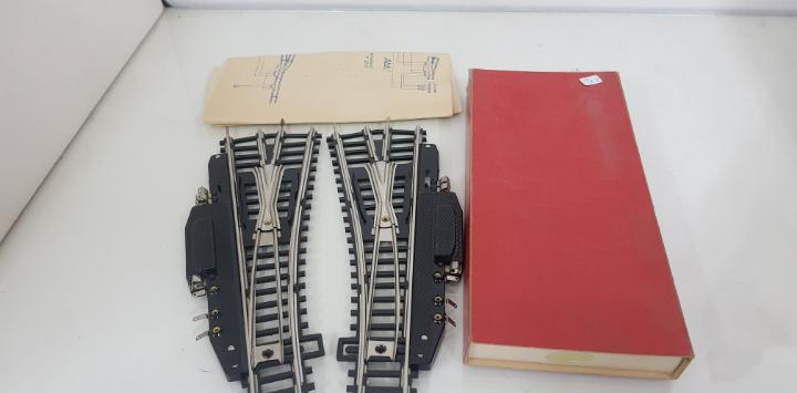 Set de 2 desvíos fabricados en gdr escala h0 compatibles