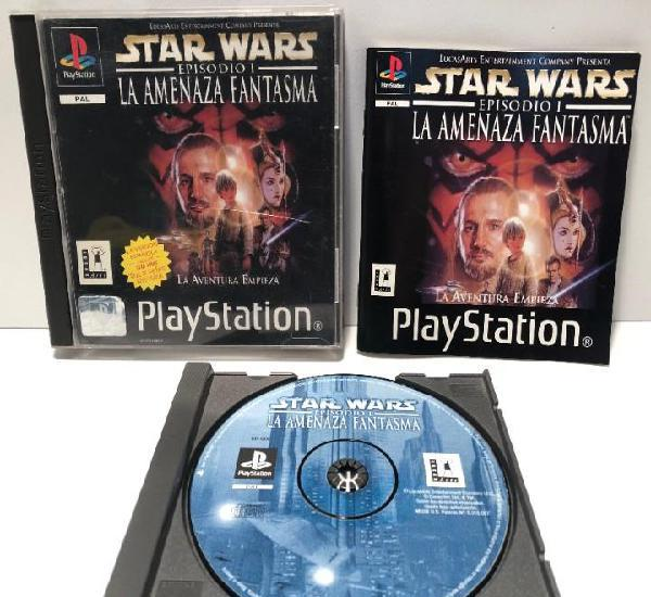 Star wars: episodio i la amenaza fantasma playstation psx