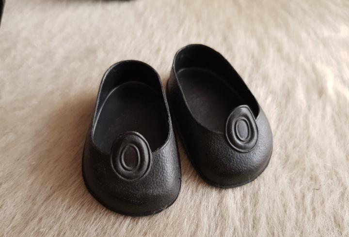 Zapatos negros de boton de nancy de famosa