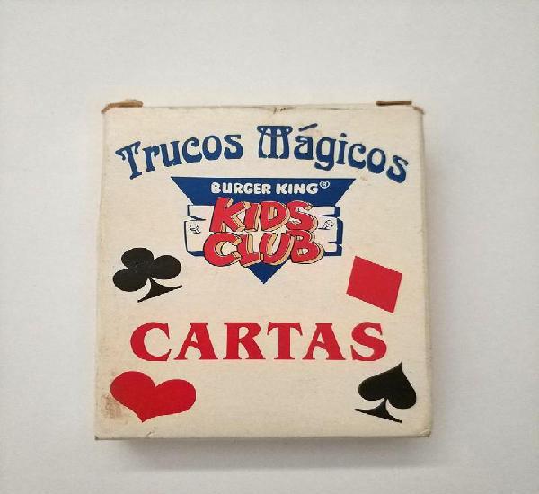 Cartas trucos magicos burger king kids club 54 cartas