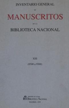 Inventario general manuscritos biblioteca nacional