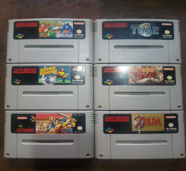 Lote juegos super nintendo. zelda, breath of fire ii, super