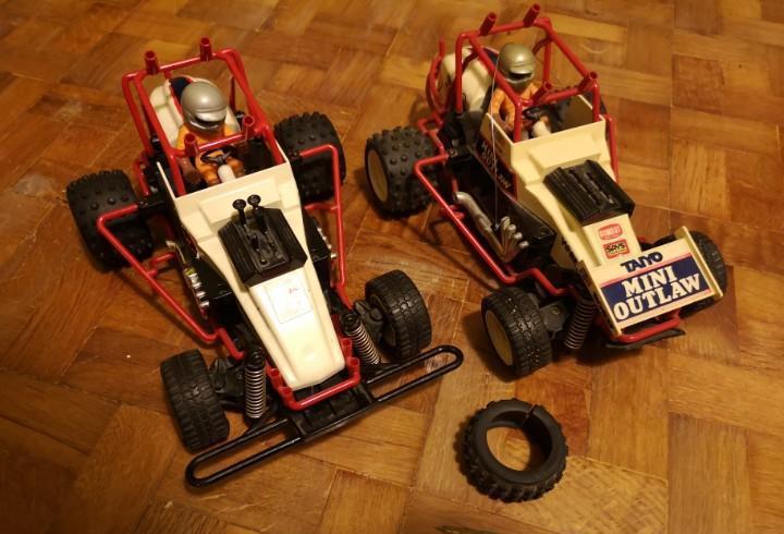 2 coches radio control mini outlaw taiyo