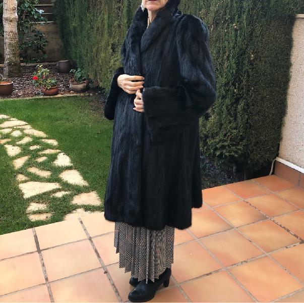 Abrigo largo piel visón